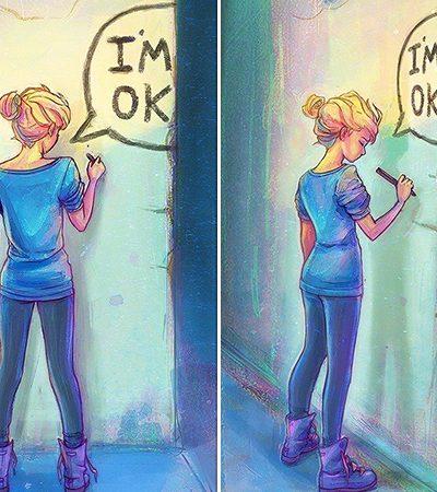 Se você quer entender o que é viver com depressão, veja os desenhos dessa artista