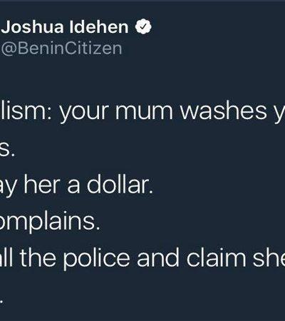 Ele explicou uma série de conceitos sócio-políticos de forma simples usando a mãe lavando a roupa como metáfora