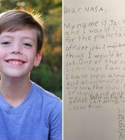 A candidatura de um menino de 9 anos a um emprego na NASA e a resposta que ele recebeu são um amor só