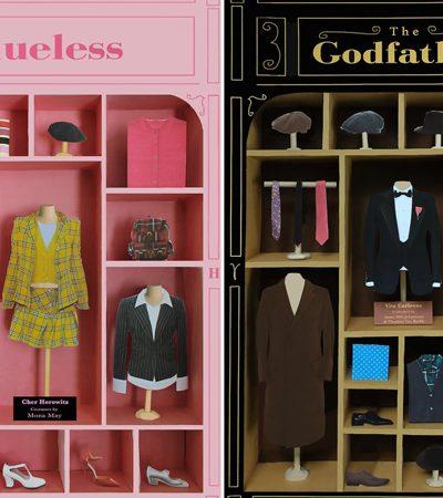Artista transforma roupas de personagens famosos do cinema em lindas vitrines de lojas