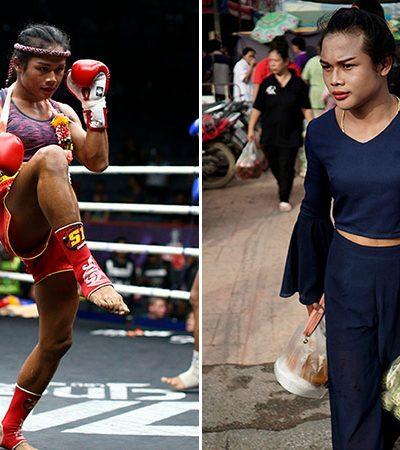 Série fotográfica retrata o dia a dia da primeira lutadora transexual de Muay Thai na Tailândia