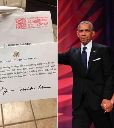 Ela convidou o casal Obama para o seu casamento e recebeu uma resposta para lá de fofa