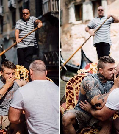 Ex-atleta olímpico é surpreendido com pedido de casamento em Veneza e as fotos são um amor só