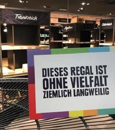Rede de supermercados combate xenofobia trocando produtos importados por cartazes esclarecedores