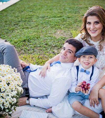 Eles decidiram voltar a casar e a cerimônia teve apenas um convidado: o filho