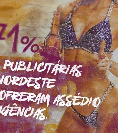 Agência nordestina usa forma criativa de escancarar o assédio e o machismo no mundo da publicidade