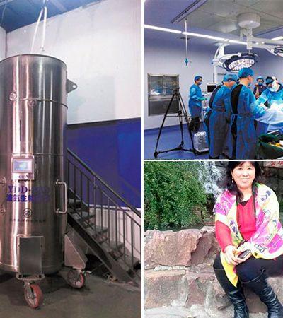 Pela primeira vez na China uma mulher foi congelada na tentativa de ser ressuscitada