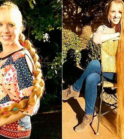 Com mais de 1,5 metro de cabelo, 'Rapunzel da vida real' dá dicas para cabelo crescer forte