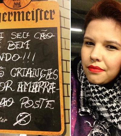 Placa polêmica em hamburgueria em SP causa revolta na internet