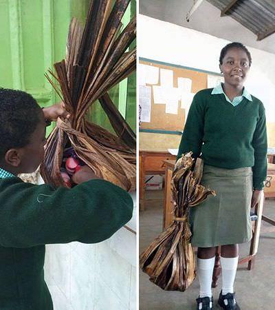 Essa menina abdicou do plástico e criou sacos feitos de folhas de bananeira para ir no mercado