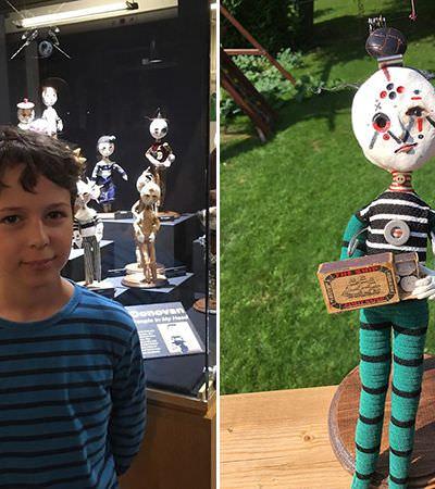 Garoto de 12 anos constrói incríveis esculturas assustadoras com material encontrado nas ruas