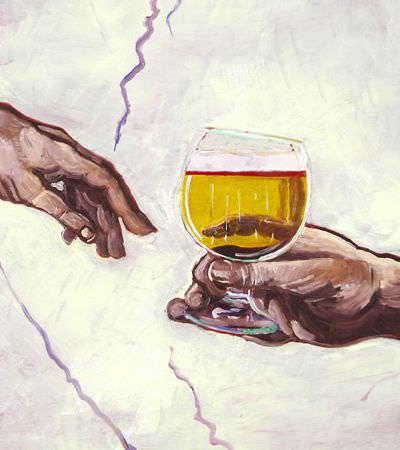 Artista recria pinturas famosas acrescentando sempre um detalhe importante: cerveja