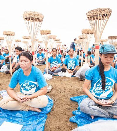 Rio de Janeiro e outras 5 cidades do mundo recebem o maior evento mundial pela paz com milhões de pessoas meditando