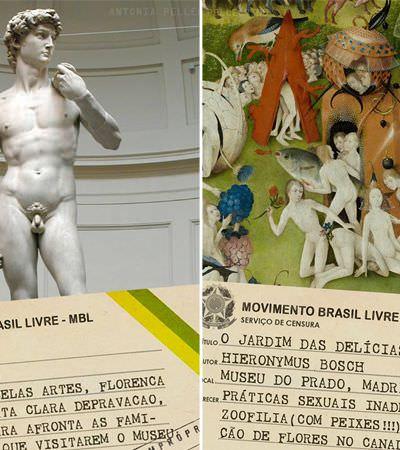 Ativista mostra o que os censores da exposição de Porto Alegre diriam de algumas das maiores obras de arte da história