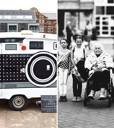 Ele transformou sua van em um estúdio de fotografia e quarto escuro portátil para fazer essas fotos maravilhosas