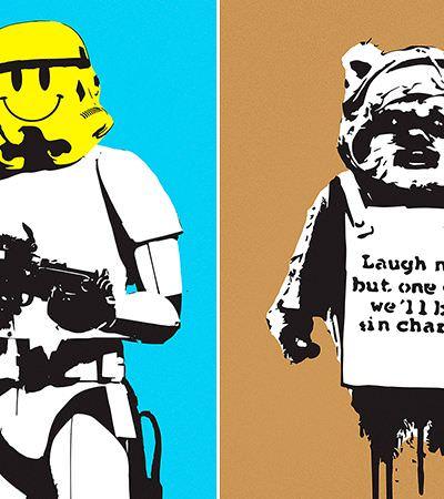 O que acontece quando Banksy e Star Wars se misturam