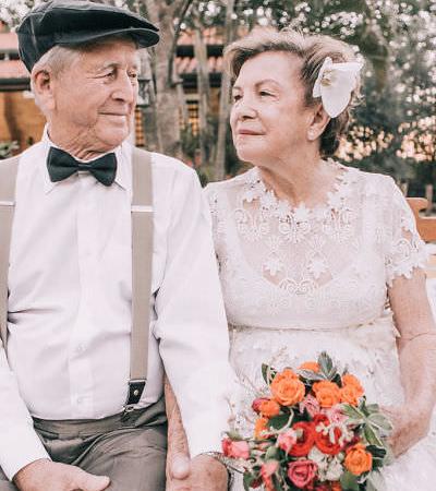 Casal de SP ganha um lindo e merecido ensaio 60 anos após o casamento