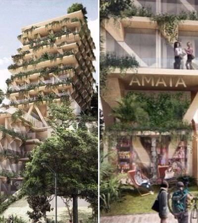 Vila Madalena terá edifício feito de madeira, com coworking e restaurantes