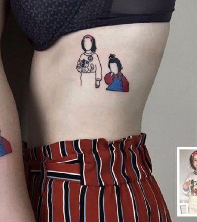 Artista transforma fotos velhinhas em tatuagens minimalistas estilosas
