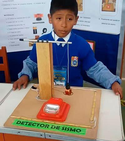 Menino de 9 anos cria detector de terremotos no Peru