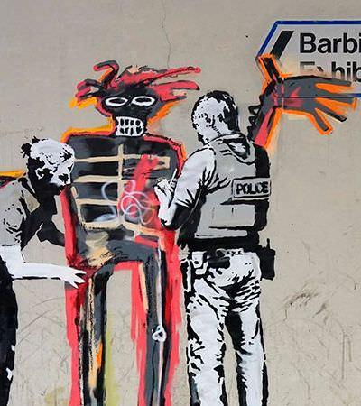 Sempre ele: Banksy faz grafite surpresa em exposição de Basquiat em Londres