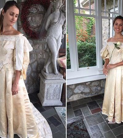 Ela será a 11ª mulher da família a usar este vestido de noiva de 120 anos
