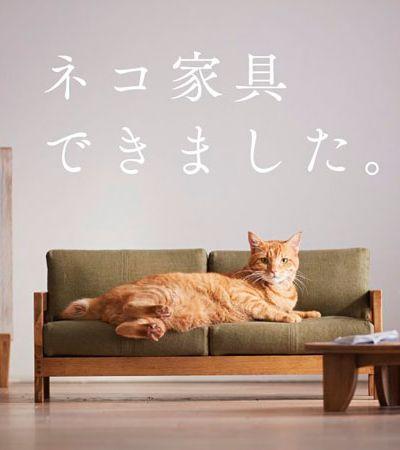 Coletivo de artistas cria linha de móveis especial para gatos com inspiração japonesa