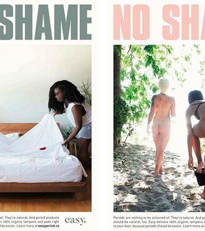 Campanha quebra tabus ao mostrar período menstrual de forma natural
