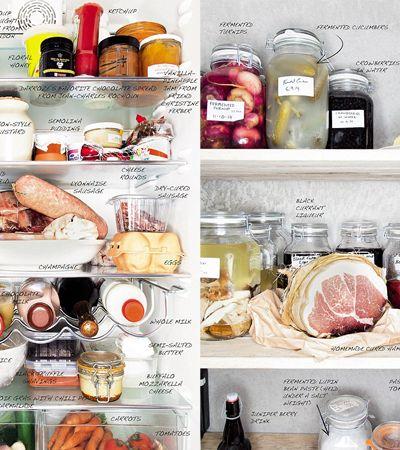 Livro mostra o que grandes chefs de cozinha guardam na geladeira