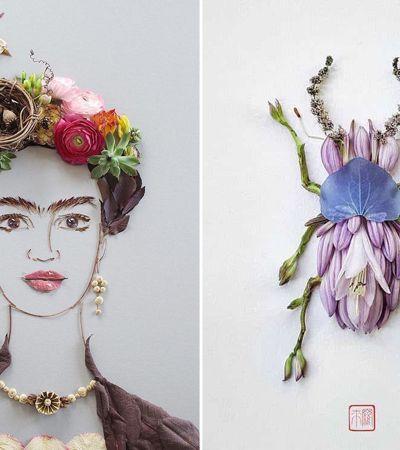 9 artistas que transformam flores em incríveis arranjos artísticos
