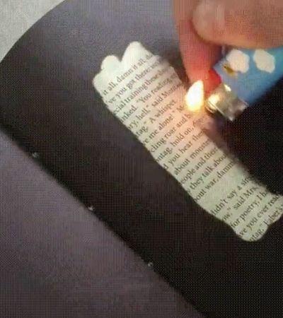 Criaram uma versão sensível ao calor do clássico livro Fahrenheit 451