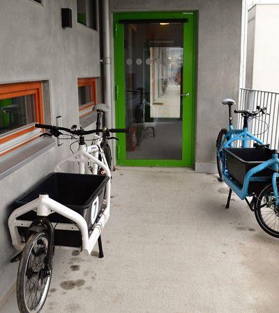 Este prédio sueco foi construído e totalmente adaptado para ciclistas