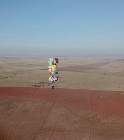 Esse cara voou por 25 km preso a 100 balões de hélio e sobreviveu para contar a história