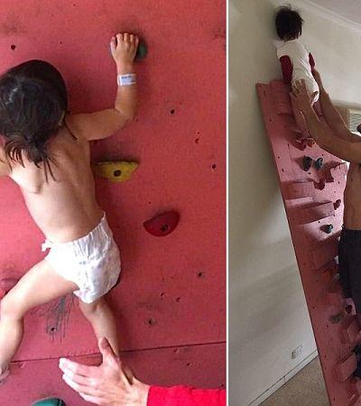 A poderosa garotinha de 3 anos que começou a escalar antes mesmo de andar