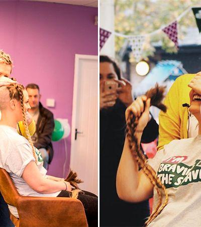 Estas pessoas rasparam os cabelos em apoio a quem luta contra o câncer