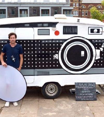 Este cara transformou um trailer antigo em uma câmera fotográfica gigante