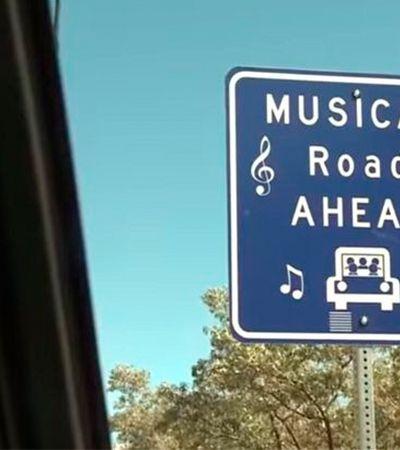 Se dirigir na velocidade certa, você ganha músicas destas estradas inteligentes