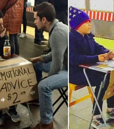 O garoto de 11 anos que vende conselhos no metrô de NY