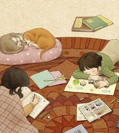 Ilustradora cria desenhos adoráveis sobre como é bom crescer com uma irmã