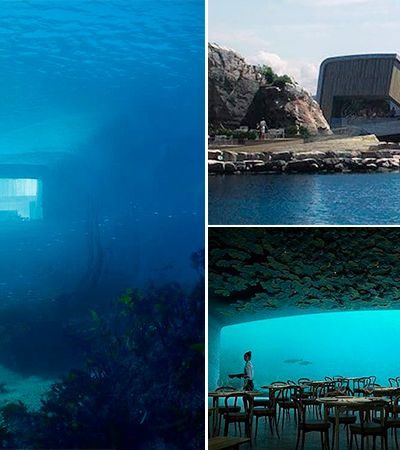 O primeiro restaurante submerso da Europa está sendo construído na Noruega