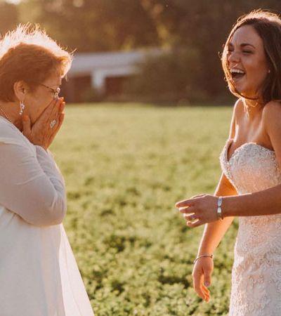 Neta faz surpresa e realiza sonho de avó que luta contra câncer de mama