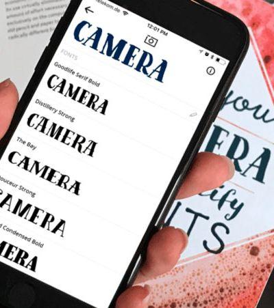 'Shazam para designers': app te ajuda a descobrir quais são as fontes usadas por aí