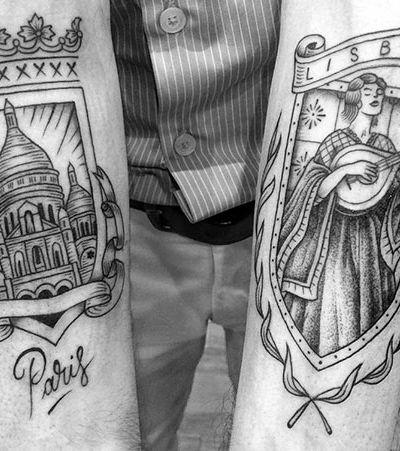 Este tatuador é especialista em criar artes para quem quer lembrar para sempre daquela viagem especial