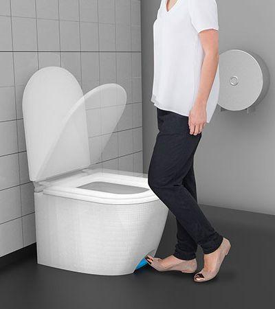 Inventaram um vaso sanitário que você não precisa tocar com a mão