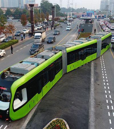 Trens rápidos sem trilhos e sem condutores já são realidade na China