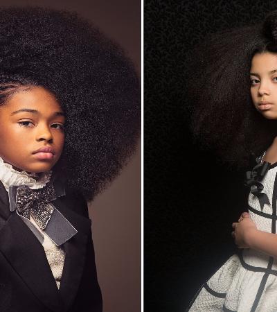 Beleza incomparável do cabelo crespo de meninas negras ganha retratos de época