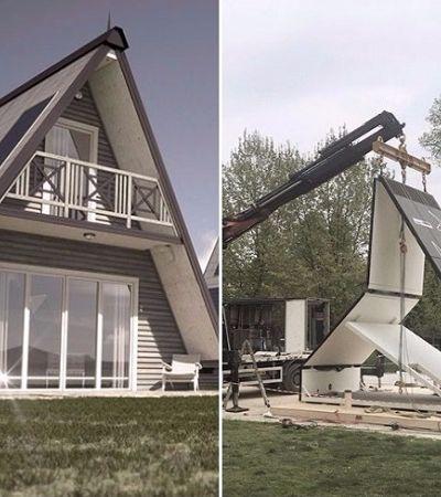 Arquiteto cria casa dobrável que pode ser montada em até 6 horas