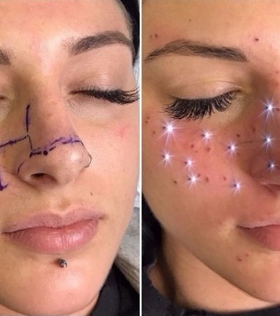 Você teria coragem de tatuar no rosto a constelação do seu signo do zodíaco?