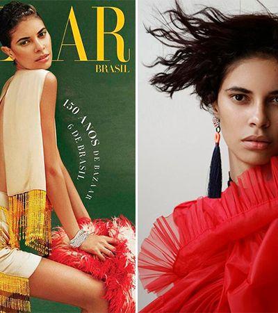 Ex-porteira ganha o mundo como modelo internacional e vira capa da Harper's Bazaar