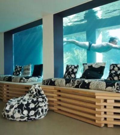 Casa quase submersa rodeada por piscina gigante pode ser alugada pelo AirBnb